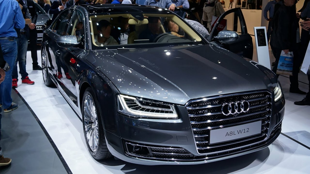 audi a8l 6 3 w12 2015 walkaround at the iaa 2015 in. Black Bedroom Furniture Sets. Home Design Ideas