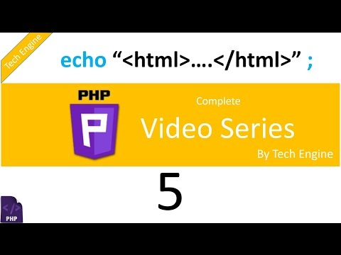 Coding In Php (Hindi) - 5. How To Output HTML Using Echo.