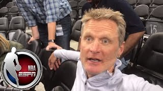 Steve Kerr addresses incorrect report about Stephen Curry's health | NBA on ESPN