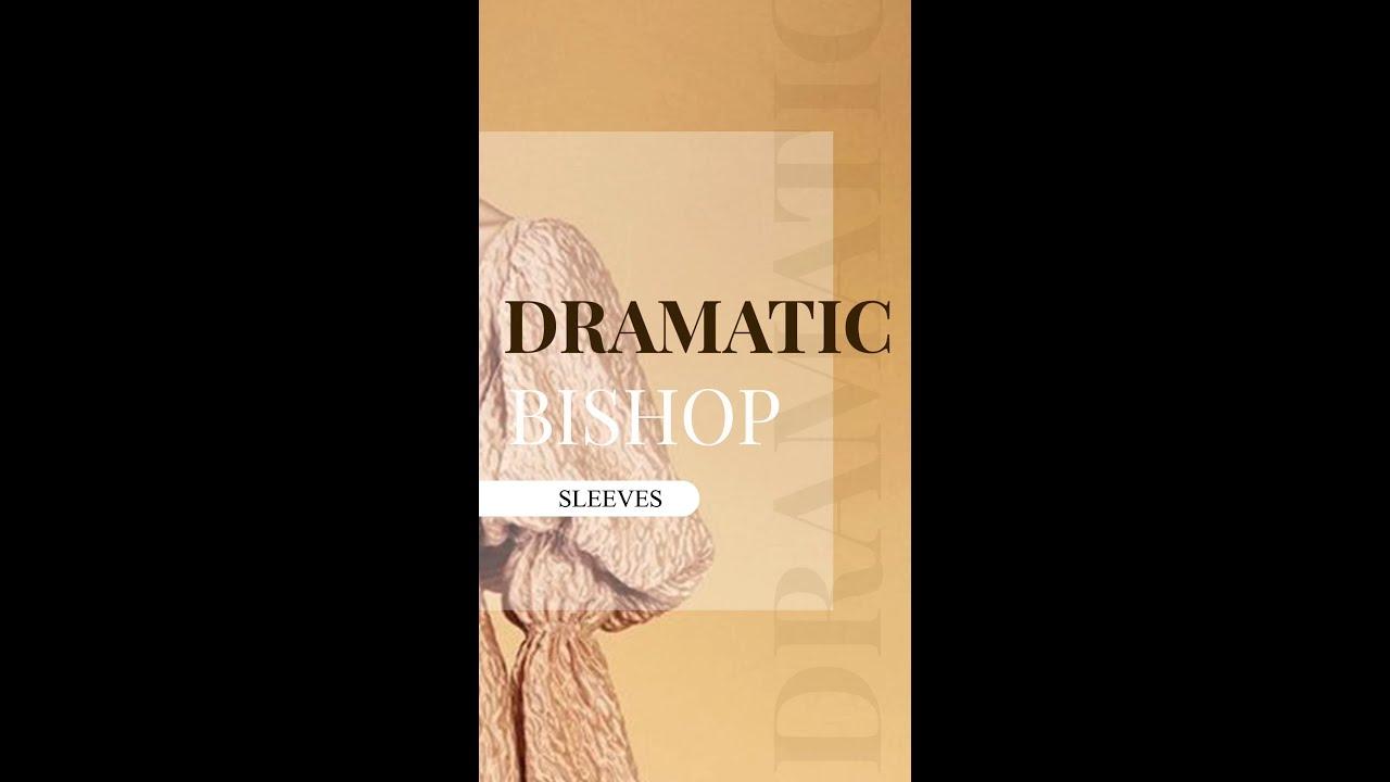 Dramatic Bishop Sleeves