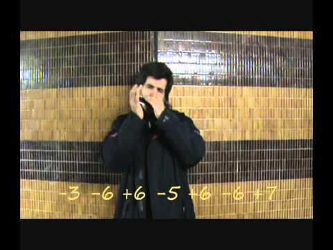 Thème du film Jean de Florette, Harmonica chromatique (tablature pour 12 trous)