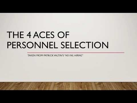 Personnel Selection - Personality
