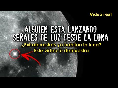 Alguien está lanzando señales de luz desde la luna | Extraterrestres habitan en la luna