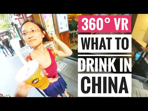 360° VR video - What to do in Asia Drink Royaltea China Trending Ice Bubble Tea Trend