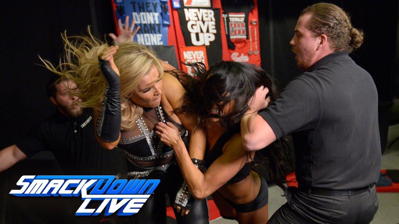 Download Nikki Bella engages Natalya in a merchandise stand brawl: SmackDown LIVE, Jan. 17, 2017