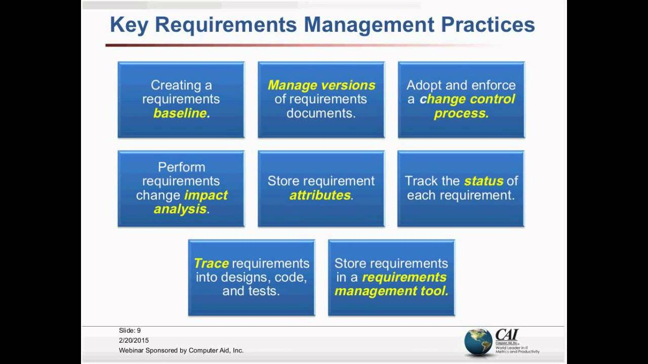 Requirements Management YouTube - What is requirements management