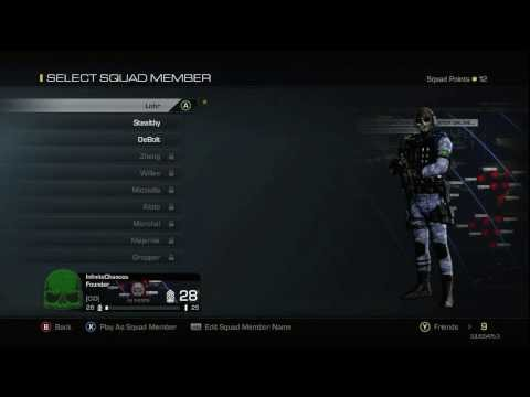 CoD Ghosts - Using Your Squad Members As Custom Class Sets (