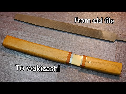Knife Making-Tanto knife from an Old File
