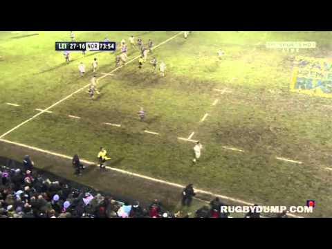 Manu Tuilagi's well timed tackle on Joe Ansbro