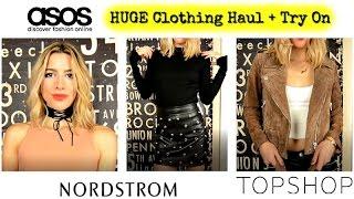 Clothing Haul + Try On Oct 2016 | TopShop, Asos, Zara + Nordstrom!!!
