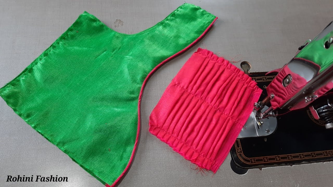 Blouse design   Cutting and stitching back neck design