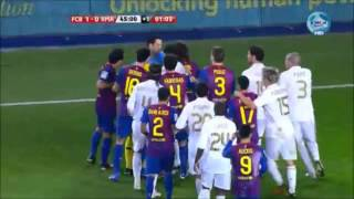 el clasico real madrid vs barcelona most heated moments fights brawls fouls