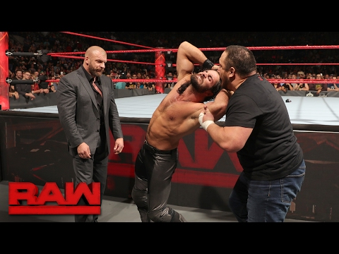 Samoa Joe ambushes Seth Rollins: Raw, Jan. 30, 2017