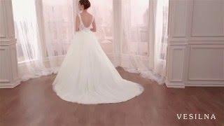 Свадебное платье пышная юбка с бисером от VESILNA™ модель 3002