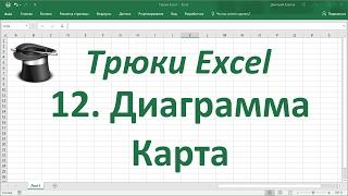 Трюк Excel 12. Диаграмма Карта на листе Excel