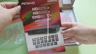 AMIKO HD 8260+ огляд, розпакування аміко, комплектація тюнера