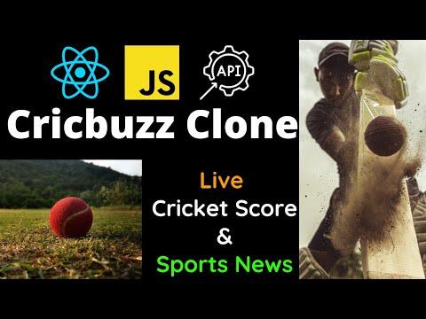 Build Cricbuzz Clone in ReactJS for Beginners