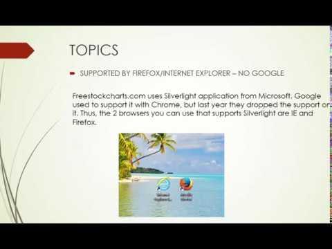 FreeStockCharts 01 Basic Tutorial - YouTube