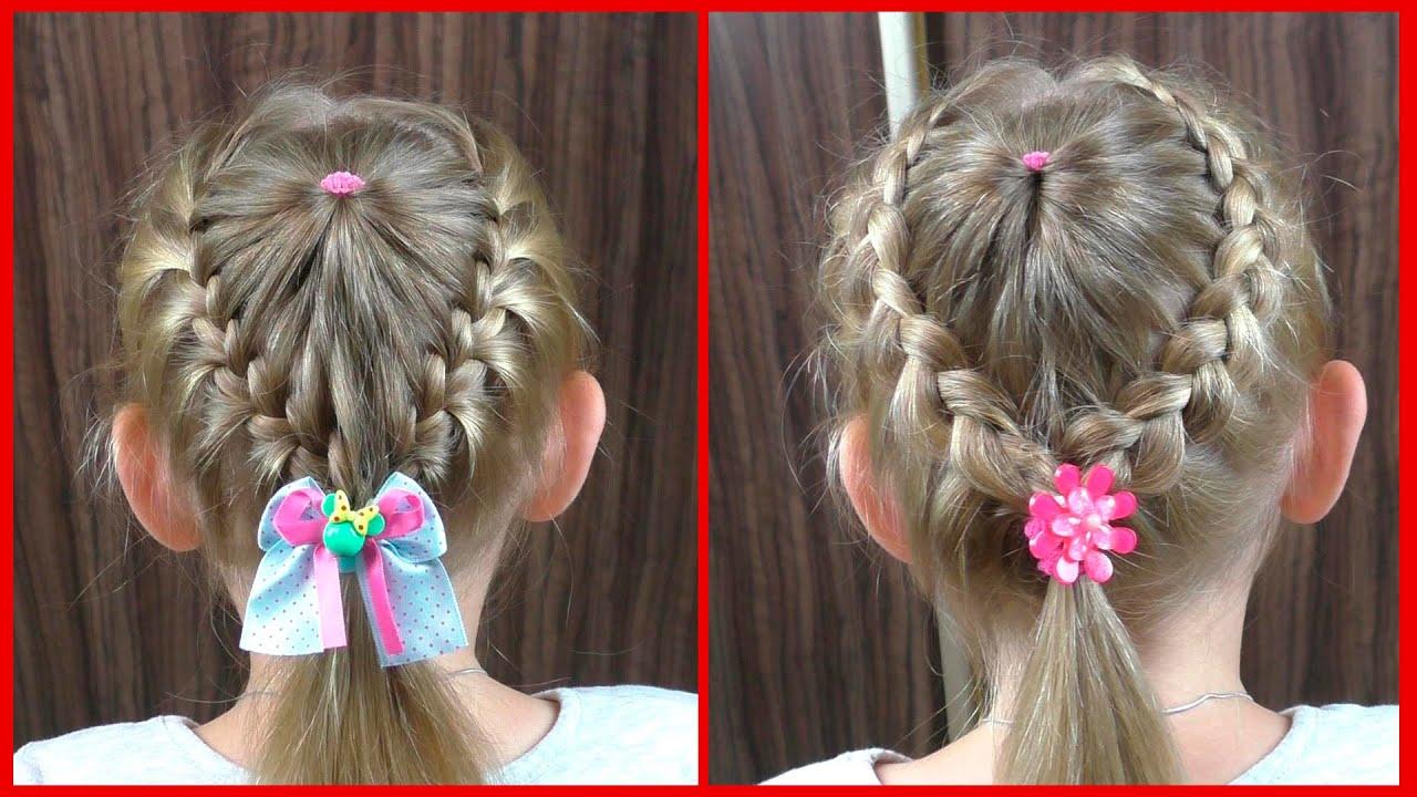 Причёска для девочки легкие 44