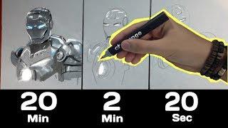 Le Challenge DESSIN des 20 min / 2 min / 20 sec !!!