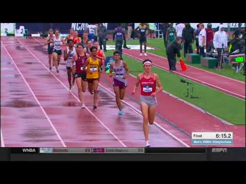 Second-fastest 400m hurdles ever, steeplechase spill at NCAA track