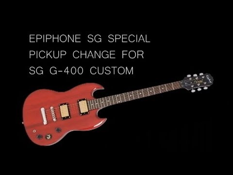 wiring diagram for epiphone sg special pickup change of epiphone sg special for the sg g 400 custom youtube  pickup change of epiphone sg special