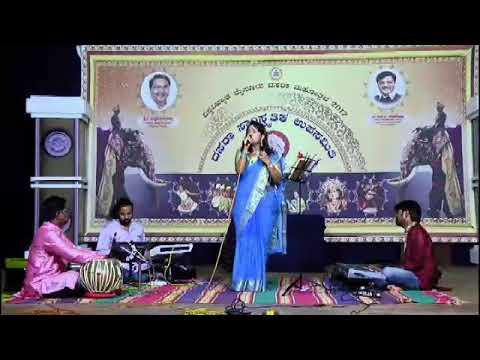Dr Snehashree Nirmalkumar's live concert for dasara 2017 @ Jaganmohan Palace on 29/09/2017