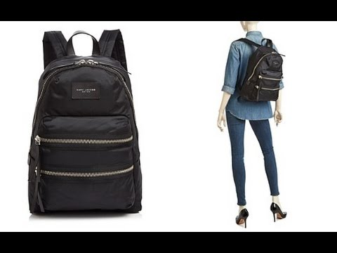 77765d277028 Review of Marc Jacobs Biker Backpack - YouTube