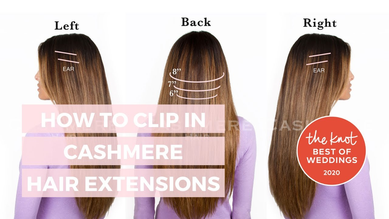 How To Clip In Cashmere Hair Tutorial Youtube