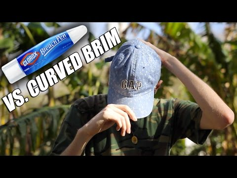 Bleach Pen Vs. Curved Brim! Quick Thrift Fix #2