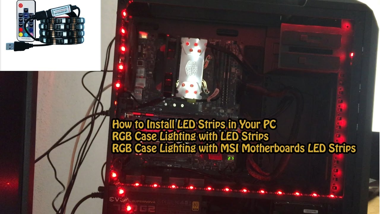 How to Install LED Strips in Your PC-Cooler Master pro 5