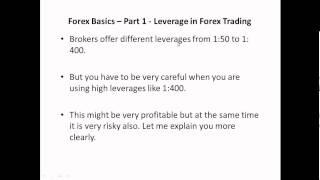 Forex Basics - Part 1 - Leverage in Forex Trading - Telugu