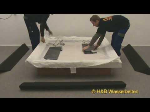 Wasserbett aufbau  Aufbau Wasserbett Split-Softside Lederlook - YouTube