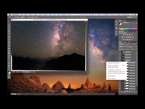 Landscape Astrophotography Noise Reduction with Image Stacking in Photoshop CC or CS6 Extended