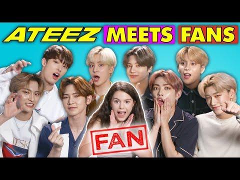K-Pop Fans React To And MEET K-Pop Stars (ATEEZ 鞐愳澊韹办)