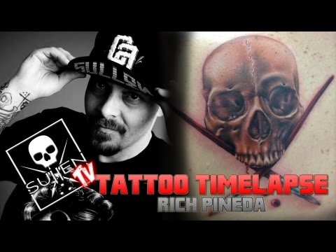 Tattoo Time Lapse - Rich Pineda - Tattoos Realistic Sullen Badge