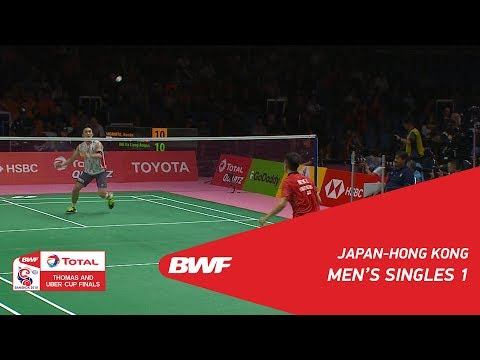 Thomas Cup | MS1 | Kento MOMOTA (JPN) vs NG Ka Long Angus (HKG) | BWF 2018