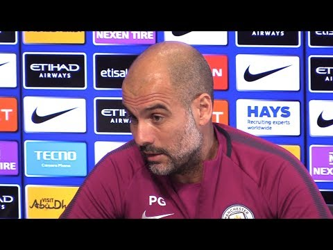 Pep Guardiola Pre-Match Presser - Man City v Leicester - Embargo Extras - Responds To Gary Neville
