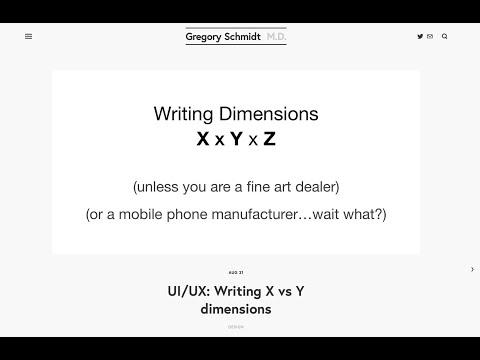 Ui Ux Writing X Vs Y Dimensions Gregory Schmidt