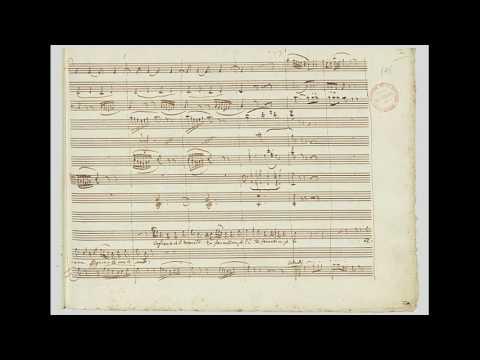 Mozart: Don Giovanni - Eh, Via Buffone - Ah, Taci Ingiusto Core - Autograph Manuscript