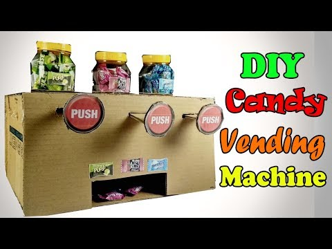 DIY Candy Dispenser Machine From Cardboad   How to Make Multi Candy Vending Machine At Home