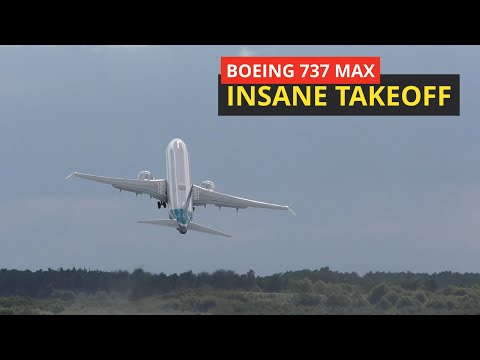 Boeing's 737 MAX Vertical Take off can SAVE 50% of your TAXIING time, Real steep takeoff Boeing 737 MAX Farnborough air show went to the sky like a rocket.