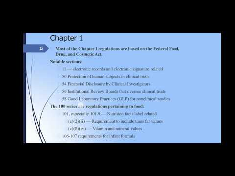CFR21 Chapter 1,2,&3