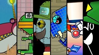 Super Paper Mario - All Bosses