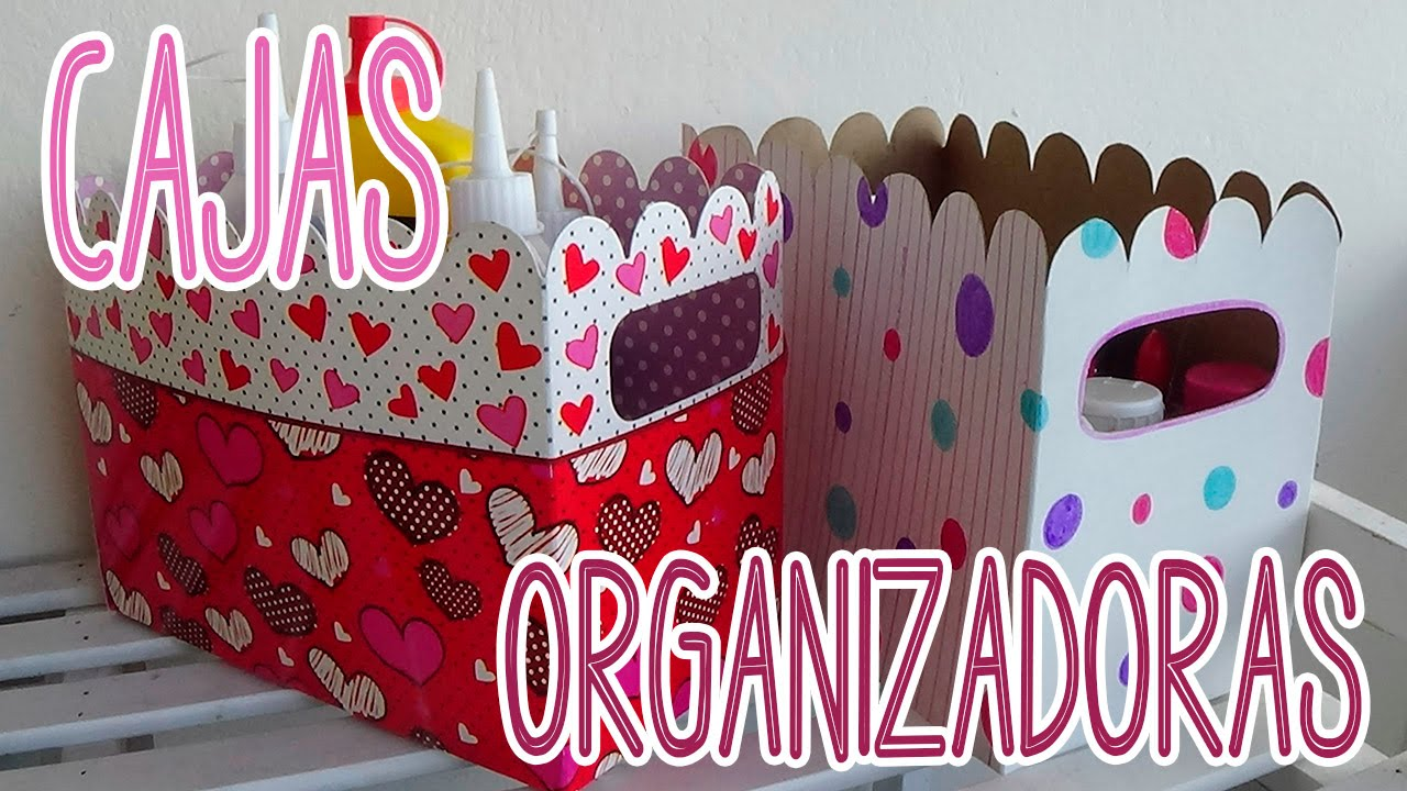 cajas organizadoras de cart n decoradas candy bu youtube