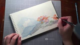 Watercolor Coral Reef Painting