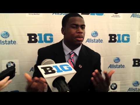 Nebraska senior Quincy Enunwa at Big Ten Media Day