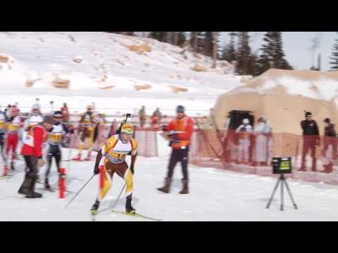 Wyoming National Guard biathlon team in Western Regional Competition