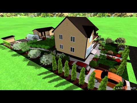 Ландшафтный дизайн дачного участка в 6 соток