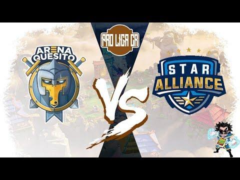 PRO LIGA CR - ARENA QUESITO vs STAR ALLIANCE | Fase de Grupos - Clash Royale  Competitivo